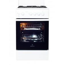 Плита газовая Greta 1470-00-06 белая с крышкой